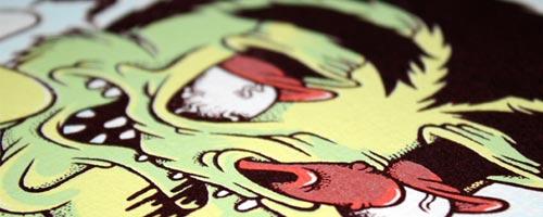 Subsidance, une sérigraphie par Jonny Packham