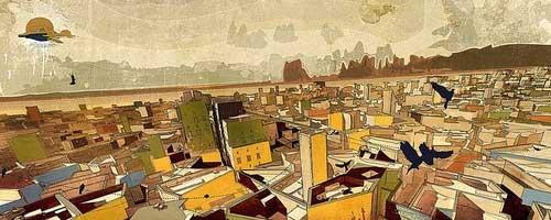 Une vision de la ville par l'artiste numérique Vigilism