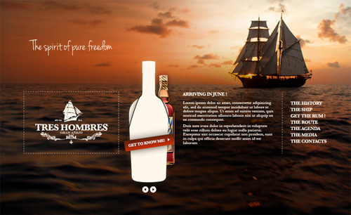Homepage site web Tres Hombres
